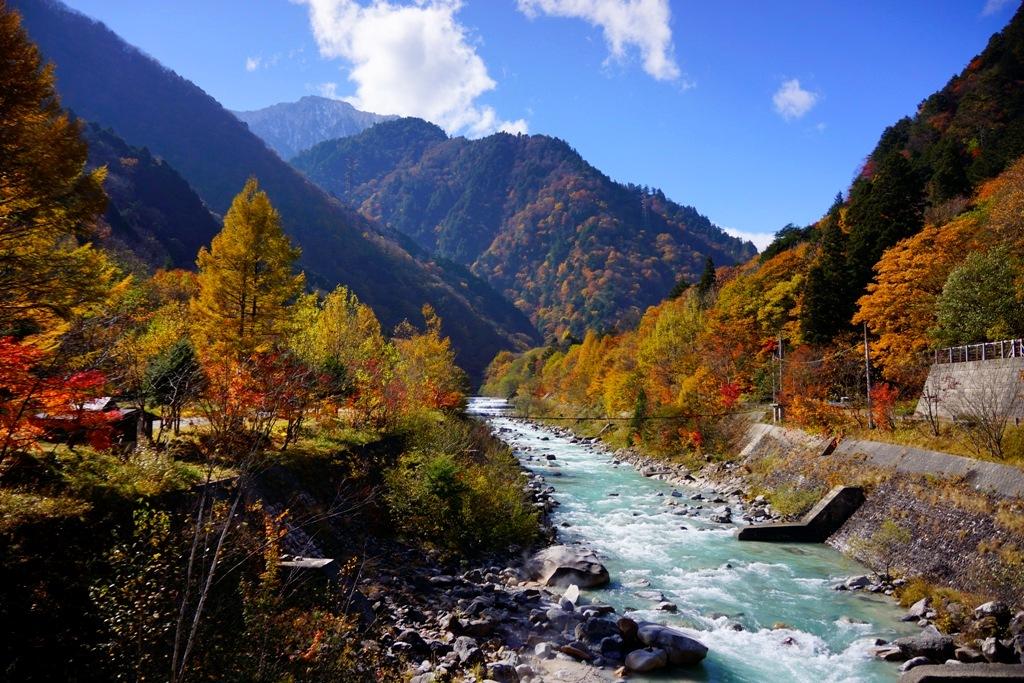 river(長野県大町市 高瀬渓谷・高瀬川) : photo 行雲流水