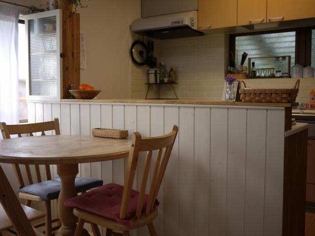 最初の手作り家具「キッチンカウンター」_b0271383_1244636.jpg