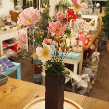 秋明菊(シュウメイギク)を花瓶に_a0292194_1535627.jpg