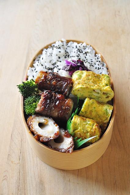 醤油糀の牛肉ちくわ弁当_b0171098_9292281.jpg