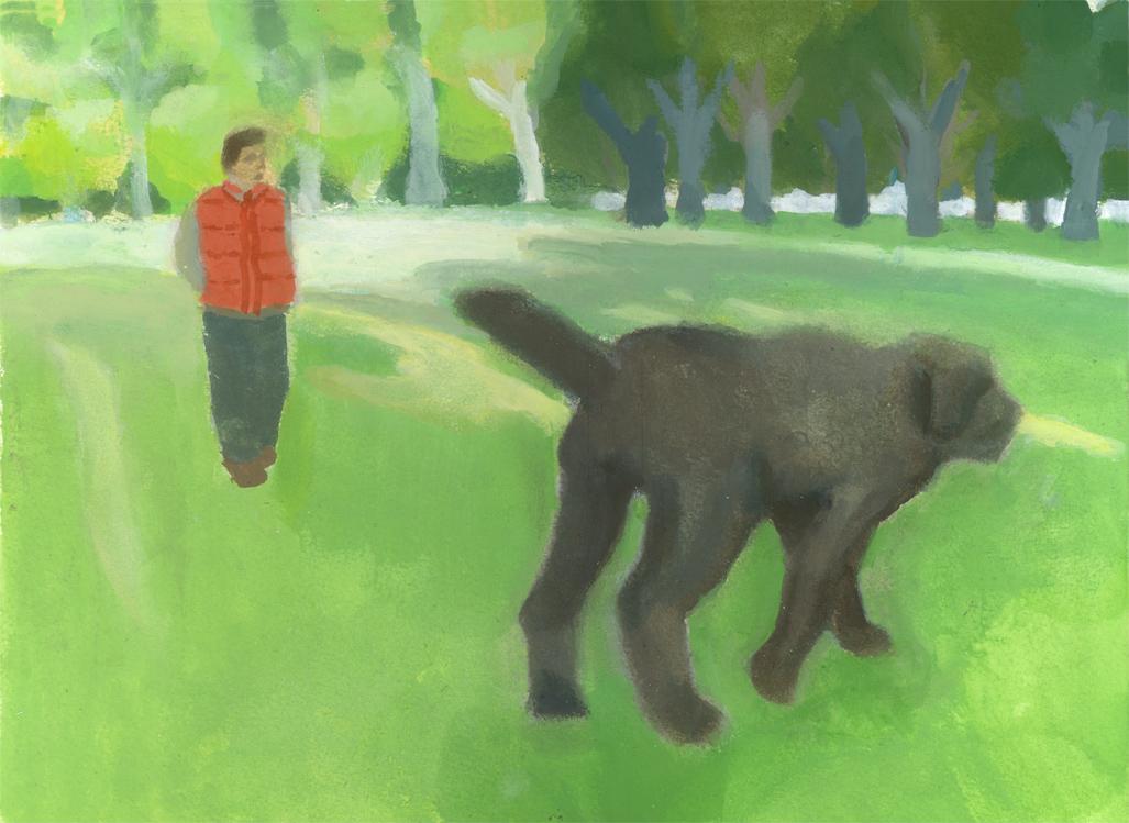 illustration break-広場の大きな犬_b0194880_15373133.jpg