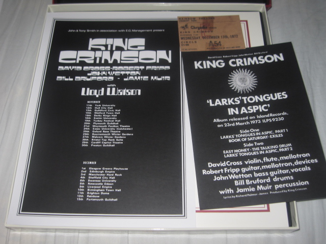 KING CRIMSON / LARK\'S TONGUES IN ASPIC THE COMPLETE RECORDINGS_b0042308_0325488.jpg