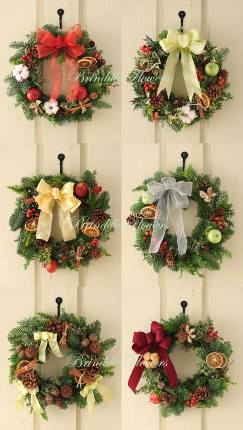 クリスマスリースレッスン☆レッスン風景と作品_b0138802_18224959.jpg