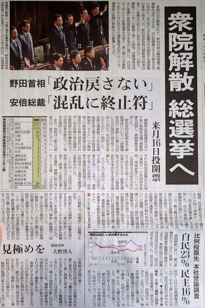 解散 野田首相の功罪について  これから_f0100920_11122874.jpg