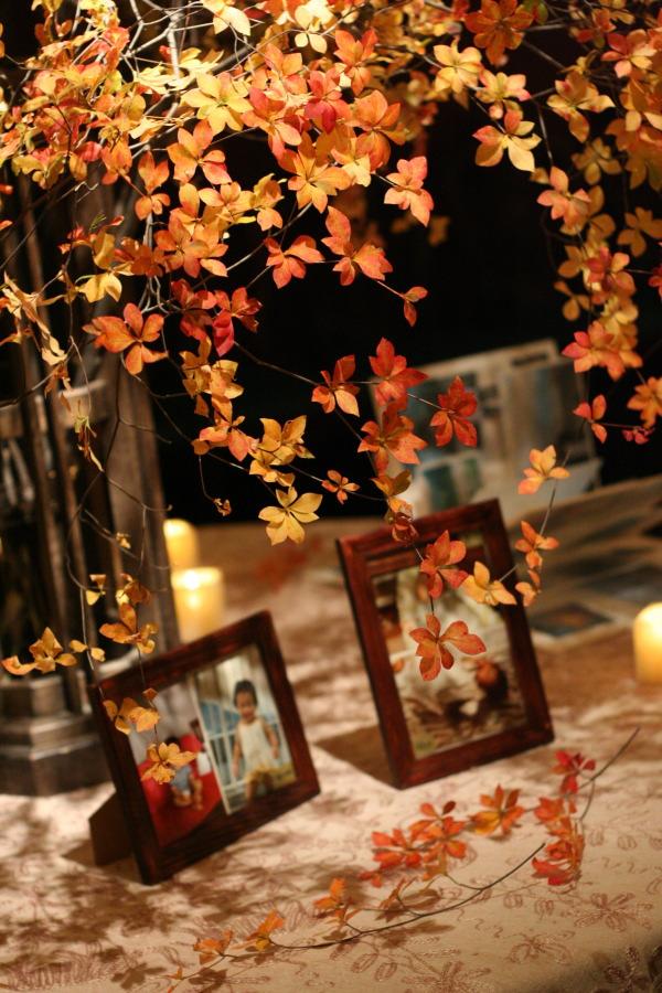 思い出のテーブル 紅葉と紅茶のバラで シェ松尾青山サロン様へ_a0042928_18483186.jpg