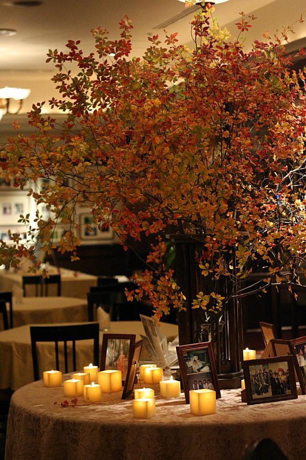 思い出のテーブル 紅葉と紅茶のバラで シェ松尾青山サロン様へ_a0042928_18483826.jpg
