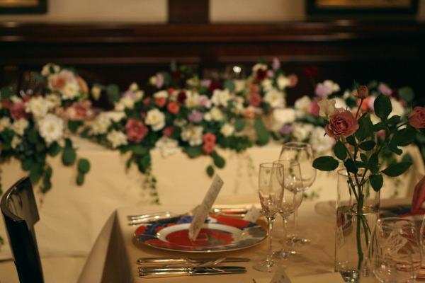 思い出のテーブル 紅葉と紅茶のバラで シェ松尾青山サロン様へ_a0042928_18502248.jpg