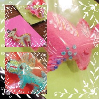 カラフルに刺繍された動物たち…_c0220186_1514427.jpg