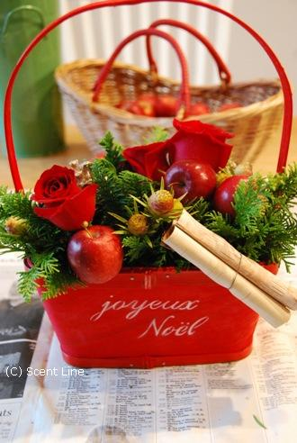 クリスマスのアレンジメント_c0099133_10274997.jpg
