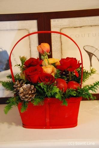 クリスマスのアレンジメント_c0099133_10275031.jpg