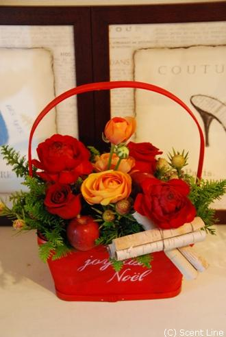 クリスマスのアレンジメント_c0099133_10275057.jpg