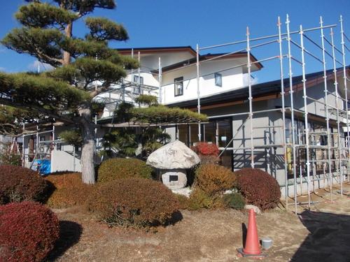 有明の家外壁仕上げ始めました。_c0218716_10152587.jpg