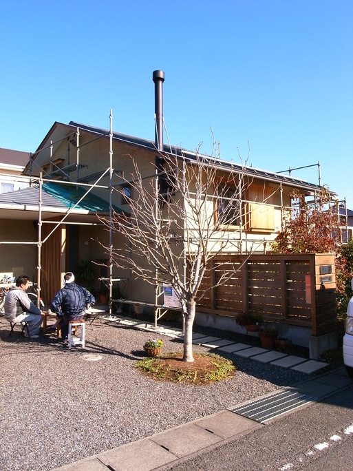 Nさんのいえ 外部木部メンテナンス塗装工事中(2) 2012/11/20_a0039934_17382229.jpg