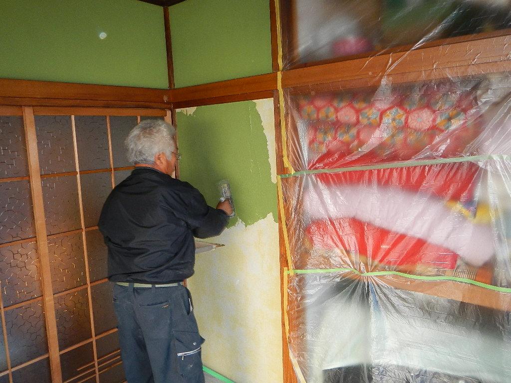 京壁塗り替え_e0243413_18511071.jpg
