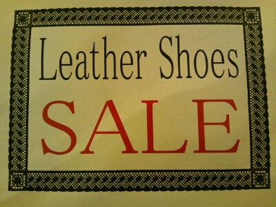 Leather shoes Sale &Leather shoes 入荷&新商品入荷!!_a0108963_2144088.jpg