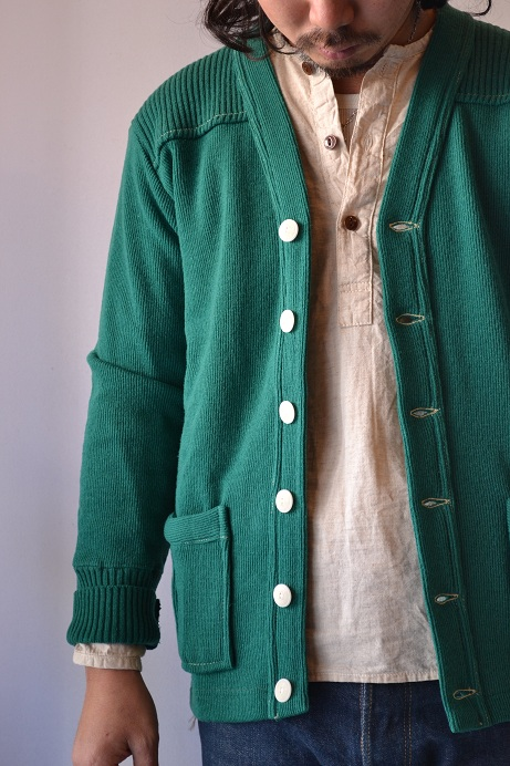 30\'s WOOL CARDIGAN GREEN _d0160378_21385748.jpg