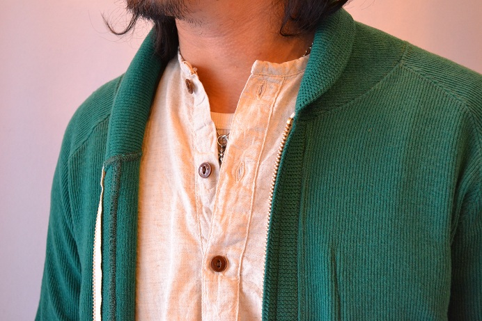 30\'s WOOL CARDIGAN GREEN _d0160378_21385827.jpg