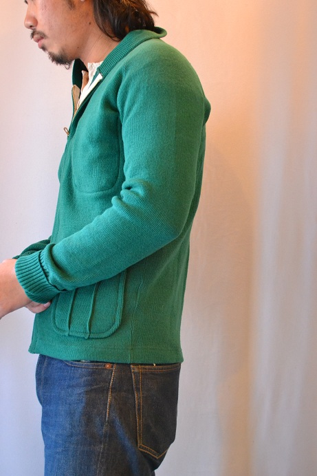 30\'s WOOL CARDIGAN GREEN _d0160378_21385921.jpg