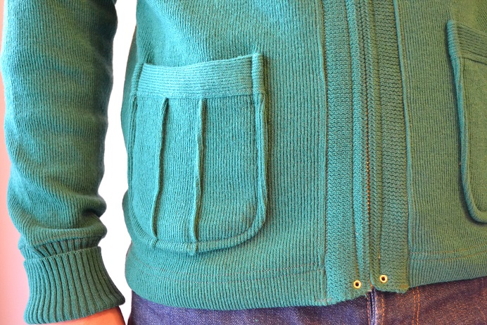 30\'s WOOL CARDIGAN GREEN _d0160378_2139083.jpg
