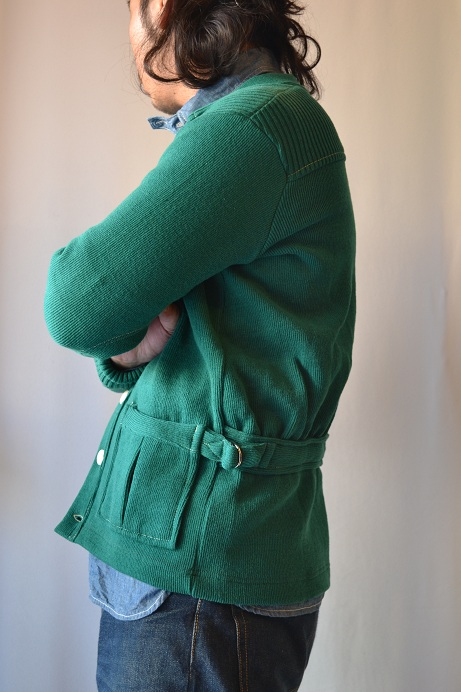 30\'s WOOL CARDIGAN GREEN _d0160378_2139143.jpg