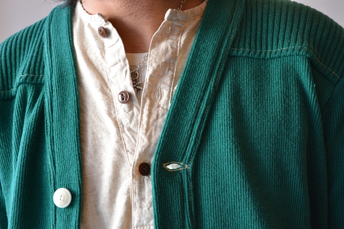30\'s WOOL CARDIGAN GREEN _d0160378_2139149.jpg