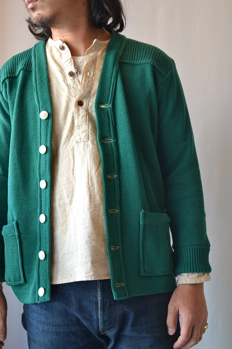 30\'s WOOL CARDIGAN GREEN _d0160378_2140443.jpg