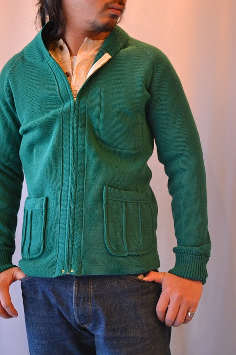 30\'s WOOL CARDIGAN GREEN _d0160378_21431217.jpg