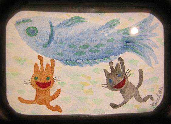 たまごの工房企画 「高円寺裏通り猫展」 その8_e0134502_1924763.jpg