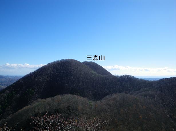 二口山塊の里山を歩く (三森山から桐ノ目山まで) ~ 2012年11月21日_f0170180_19274715.jpg