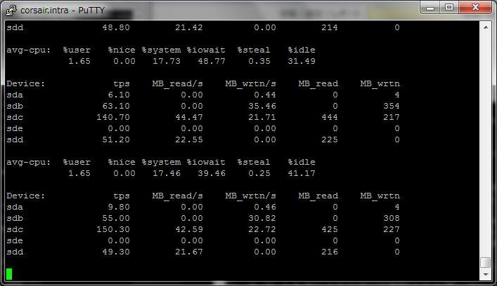 SUSE Linux で iostat - HDDの転送状態を調べる_a0056607_1952932.jpg