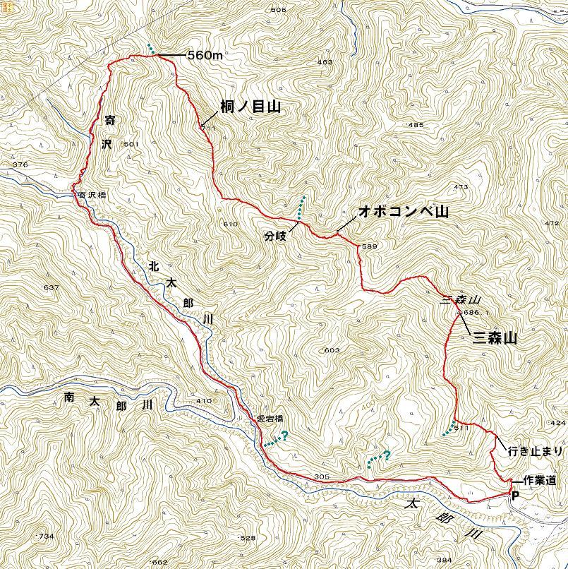 二口山塊の里山を歩く (三森山から桐ノ目山まで) ~ 2012年11月21日_f0170180_8164168.jpg