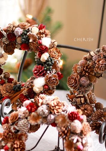 木の実のリース☆クリスマス編_b0208604_041776.jpg