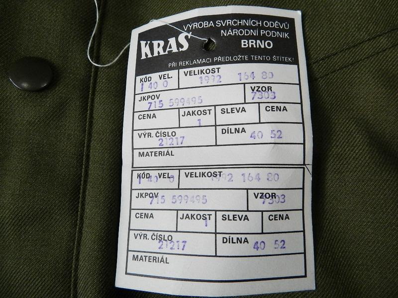 Czech army zip blouson dead stock_f0226051_12142393.jpg