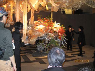 東海東京証券プレミア美術展 いけばな草月LIVE_c0165824_16554272.jpg