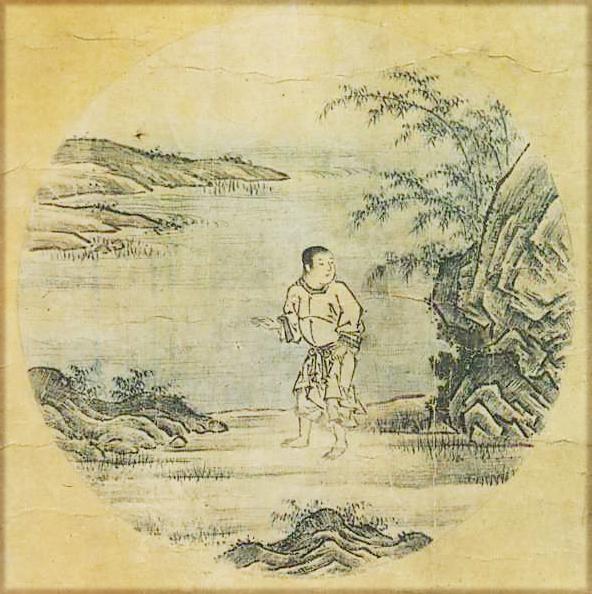 『若冲・応挙の至宝』展の中に『十牛図』(周文筆)が飾られていた。_d0178825_920194.jpg