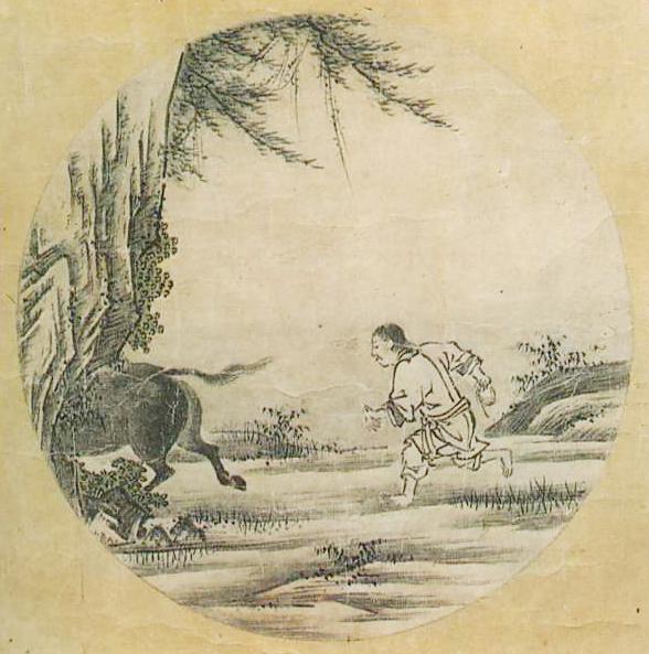 『若冲・応挙の至宝』展の中に『十牛図』(周文筆)が飾られていた。_d0178825_9211460.jpg