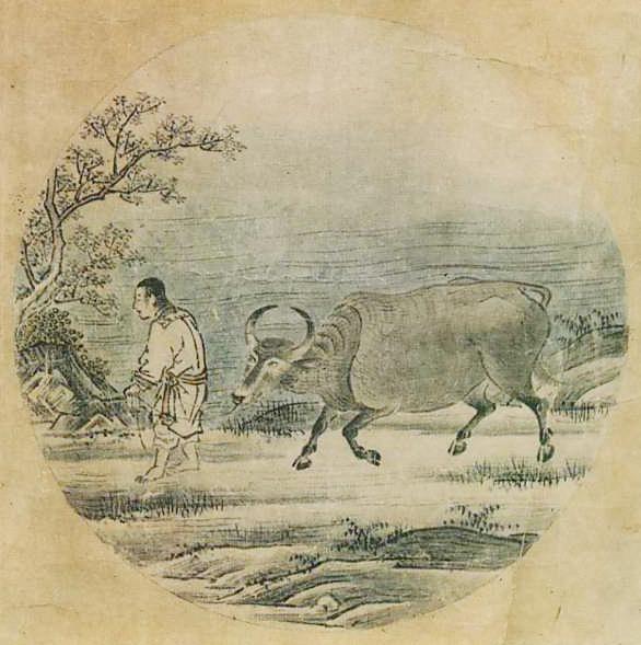 『若冲・応挙の至宝』展の中に『十牛図』(周文筆)が飾られていた。_d0178825_9214567.jpg