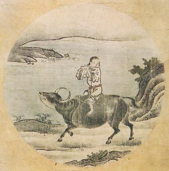 『若冲・応挙の至宝』展の中に『十牛図』(周文筆)が飾られていた。_d0178825_9215949.jpg