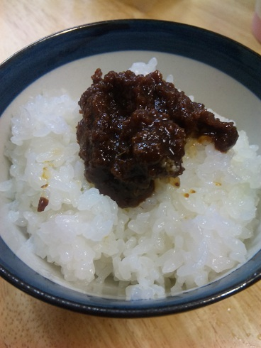 鹿児島の肉みそご飯_a0103940_459086.jpg