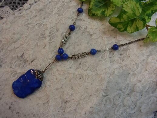 ピンクとブルー....ネックレスを二つ............_d0127182_18251178.jpg