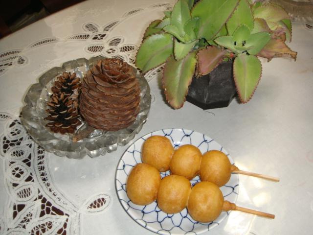 執念!の、ポテト、ダンゴ!のフライ!ゲット!アハハハーー。_d0060693_19413339.jpg