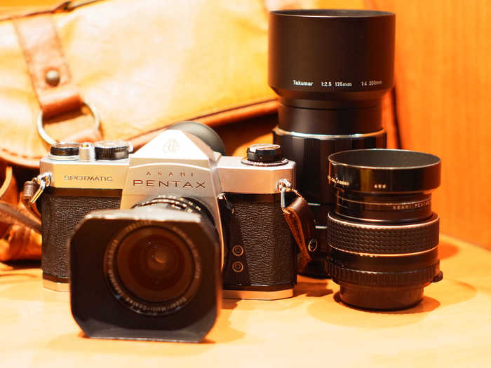 Pentax Spotmatic Sp Ii 35mm Film Camera With Takumar 55mm F/1.8 Smc Lens Foto & Camcorder Analoge Fotografie