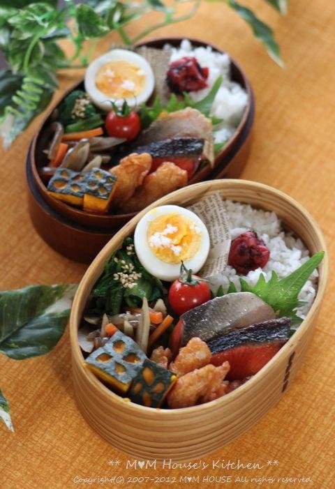 焼き鮭弁当 ☆ 鍋焼きラーメン♪_c0139375_12364513.jpg