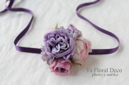 紫色のフラワーアクセサリー_b0113510_1911311.jpg