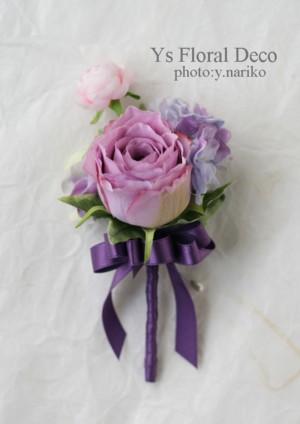紫色のフラワーアクセサリー_b0113510_19114472.jpg