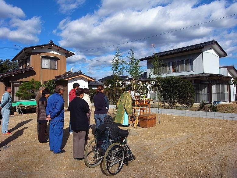 石岡の家 地鎮祭 2012/11/27_a0039934_17264410.jpg