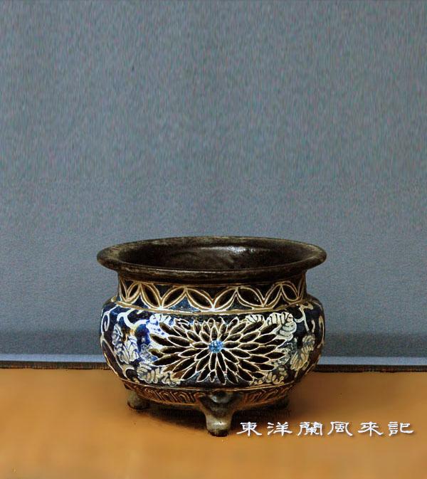 東洋蘭植木鉢「京焼」                 No.1222_d0103457_20571136.jpg