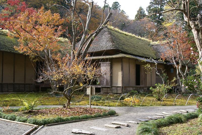 西山荘の紅葉 常陸太田市_b0183886_13594237.jpg