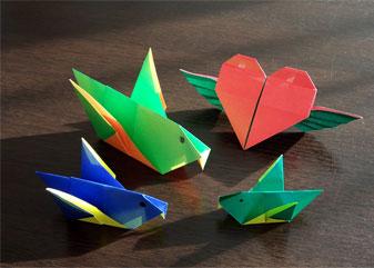 幸せの親子ポインセチアと、折り紙たち。_d0224894_19484786.jpg