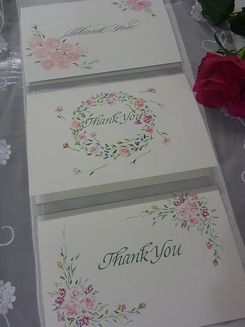 バラデザインのサンキューカード♪_b0105897_2422439.jpg